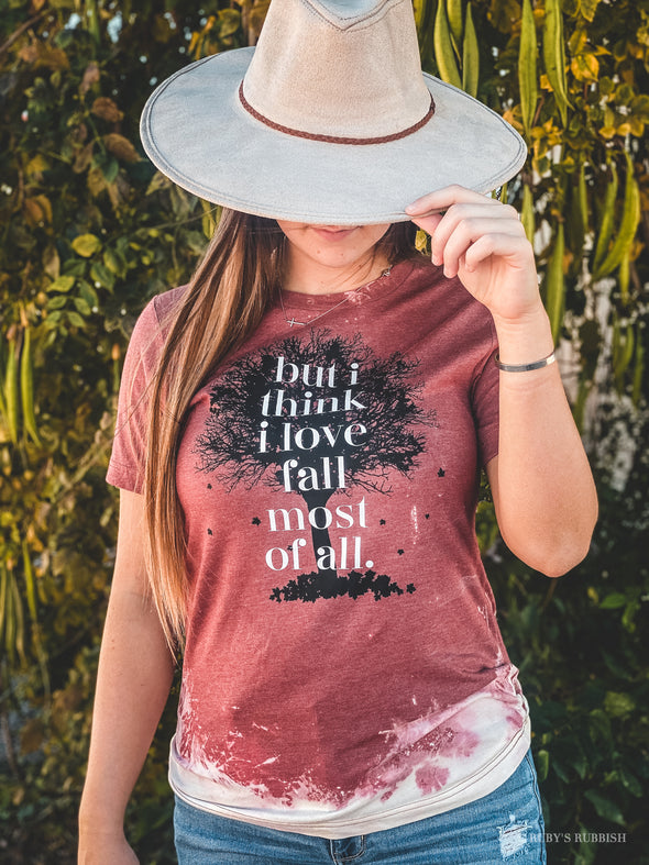But I Think I Love Fall Most of All | Seasonal T-Shirt | Ruby's Rubbish®