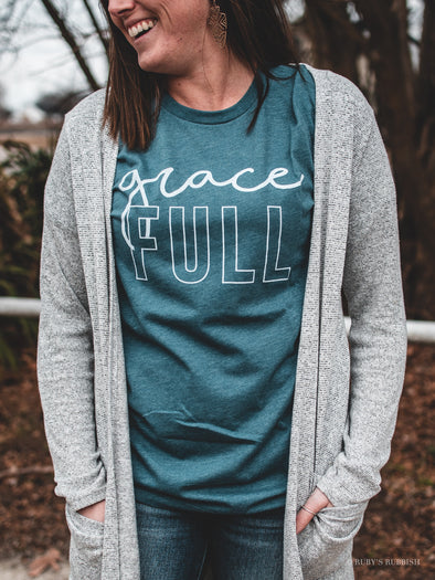 GraceFULL | Scripture T-Shirt | Ruby's Rubbish®