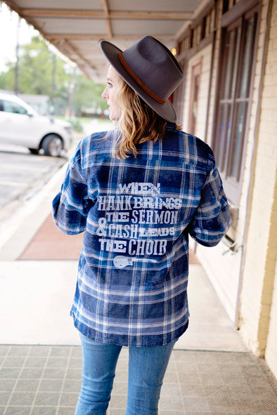 When Hank Brings the Sermon | Women's Flannel | Ruby's Rubbish®