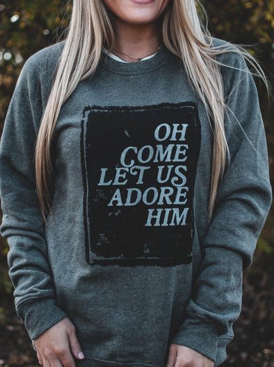 Oh Come Let Us Adore Him | Seasonal Sweatshirt | Ruby's Rubbish®