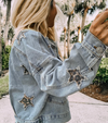 Leopard Star | Denim Jacket | Rubies & Lace