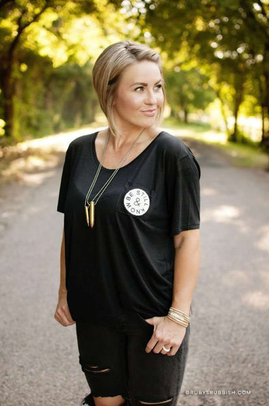 Be Still & Know | Women's Slouchy Pocket Tee | Ruby's Rubbish®
