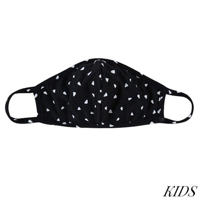 KIDS Black & White T-Shirt Cloth Face Mask | Ruby's Rubbish®