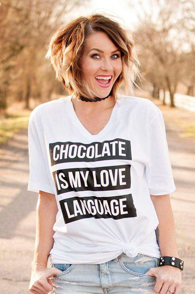 Chocolate is My Love Language | Funny T-Shirt | Ruby's Rubbish®