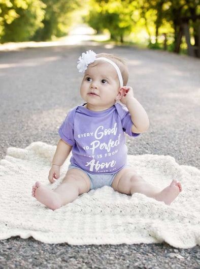 Every Good and Perfect Gift is From Above | Infant Onesie | Ruby's Rubbish®