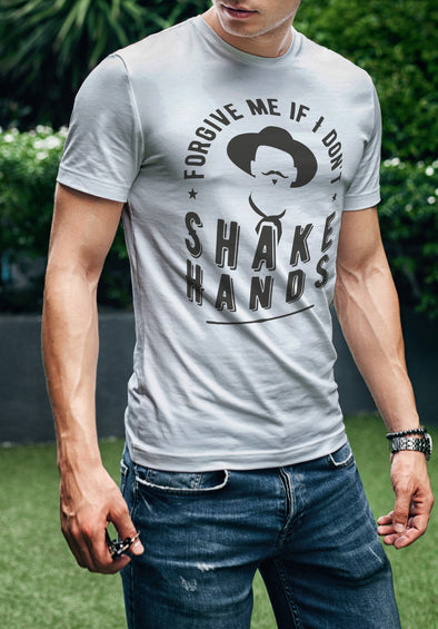 Forgive Me If I Don't Shake Hands | Men's T-Shirt | Ruby's Rubbish®