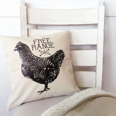 Free Range | Canvas Pillow Cover | Ruby's Rubbish®