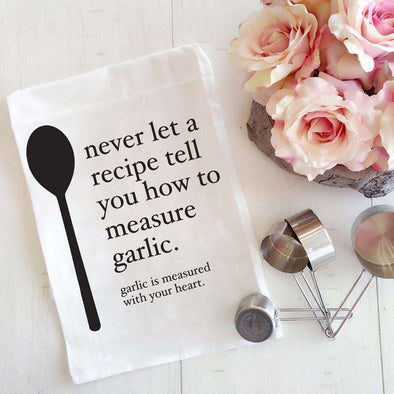 Garlic | Flour Sack Tea Towel | Ruby's Rubbish®