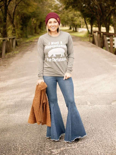I Want a Hippopotamus for Christmas | Seasonal Long Sleeve | Ruby's Rubbish®