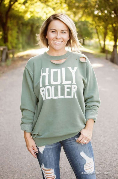Holy Roller | Christian Sweatshirt | Ruby's Rubbish®