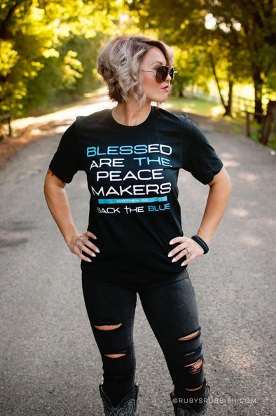 Blessed are the Peacemakers | Scripture T-Shirt | Ruby's Rubbish®
