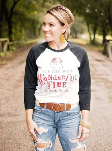 It's the Most Wonderful Time of the Year | Seasonal Raglan | Ruby's Rubbish®