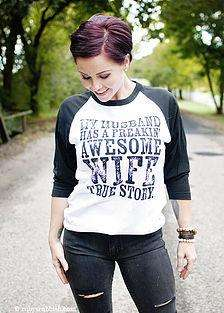 My Husband Has a Freakin' Awesome Wife | Women's Raglan | Ruby's Rubbish®