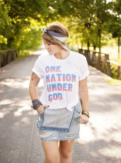 One Nation Under God | Seasonal T-Shirt | Ruby's Rubbish®