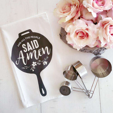 And All the People Said Amen | Flour Sack Tea Towel | Ruby's Rubbish®