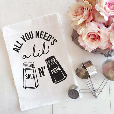 Salt N' Pepa | Flour Sack Tea Towel | Ruby's Rubbish®
