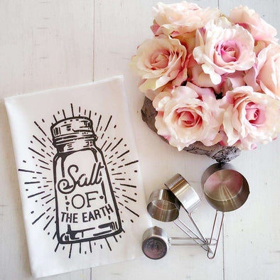 Salt of the Earth | Flour Sack Tea Towel | Ruby's Rubbish®