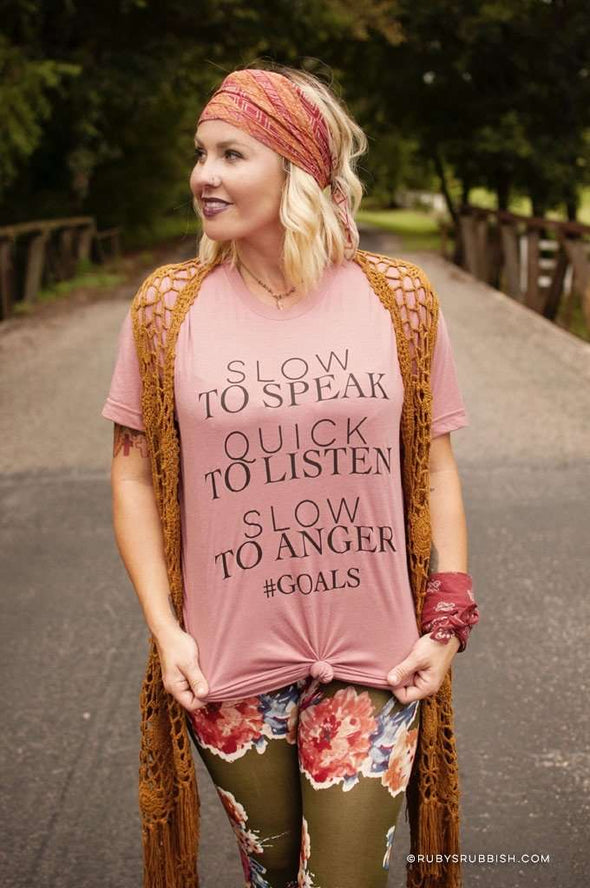 Slow to Speak, Quick to Listen | Christian T-Shirt | Ruby's Rubbish®