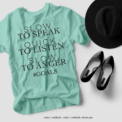 Slow to Speak | TEE OF THE WEEK | Ruby's Rubbish®