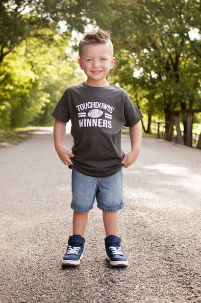 Touchdowns are for Winners | Kid's T-Shirt | Ruby's Rubbish®