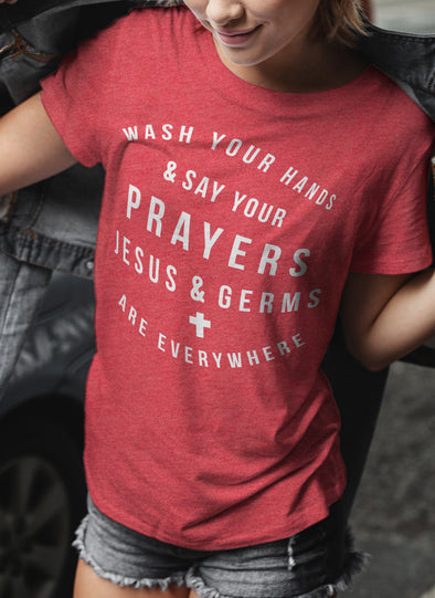 Jesus & Germs Are Everywhere | Women's T-Shirt | Ruby's Rubbish®