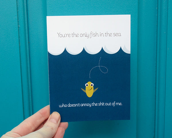 Fish in the Sea Love Card #006b