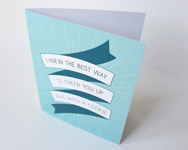 """Cheer Up with a Cookie"" Friendship Card #020"
