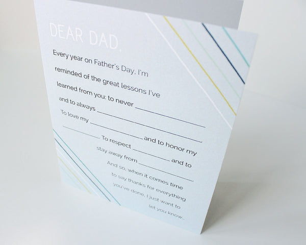 """Fill-in-the-blank"" Father's Day Card #021"