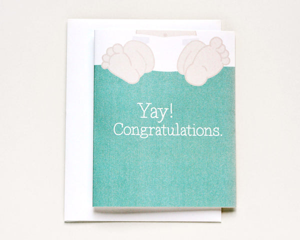 """Please, No Poop Pictures"" Baby Shower Card #025"