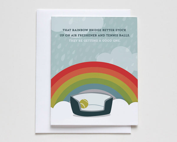 """Rainbow Bridge"" Pet Loss Sympathy Card #048"
