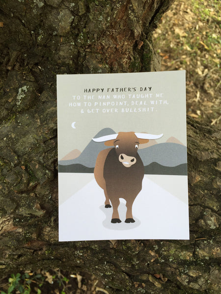 """Bullshit"" Father's Day Card #047"