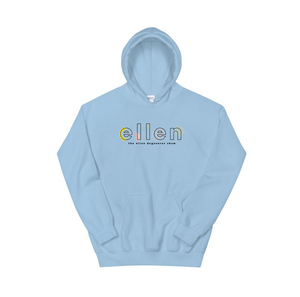 Ellen Show Abstract Logo Hoodie - Blue