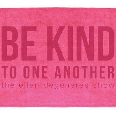 The ellen DeGeneres Show Shop-Be Kind Beach Towel-Pink-Front