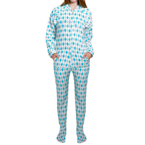 Argyle Adult One-Piece Pajama / Female - Ellen Degeneres Show Shop - 2