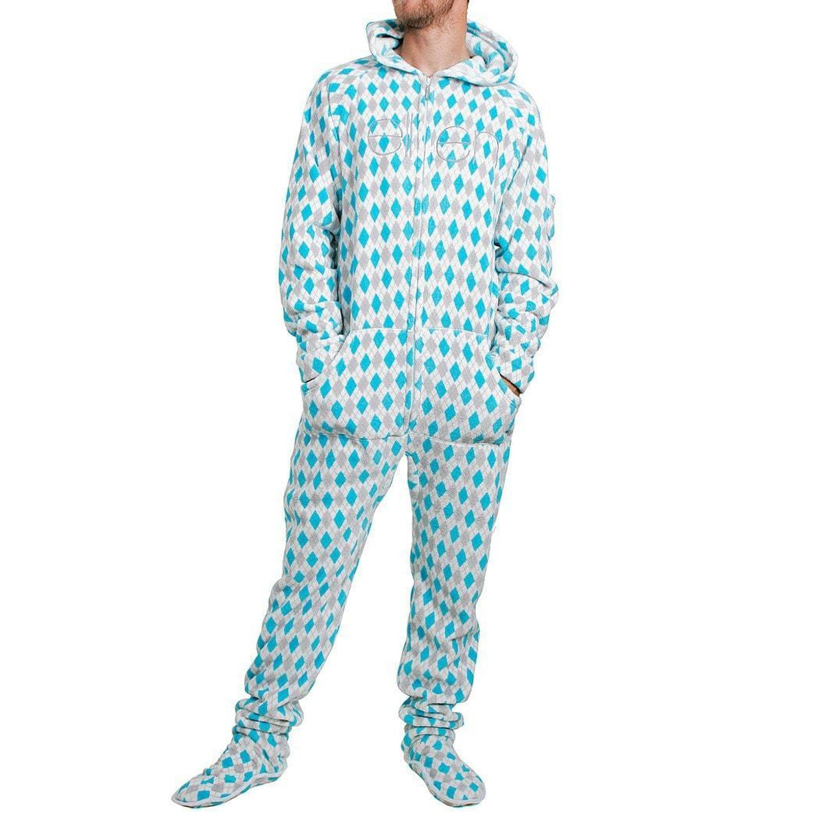Argyle Adult One-Piece Pajama / Male - Ellen Degeneres Show Shop - 1