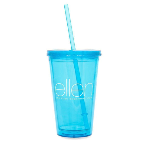 Cold Cup & Straw-Blue - Ellen Degeneres Show Shop