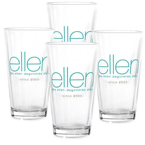 4 ellen Shop Pint Glasses - Ellen Degeneres Show Shop