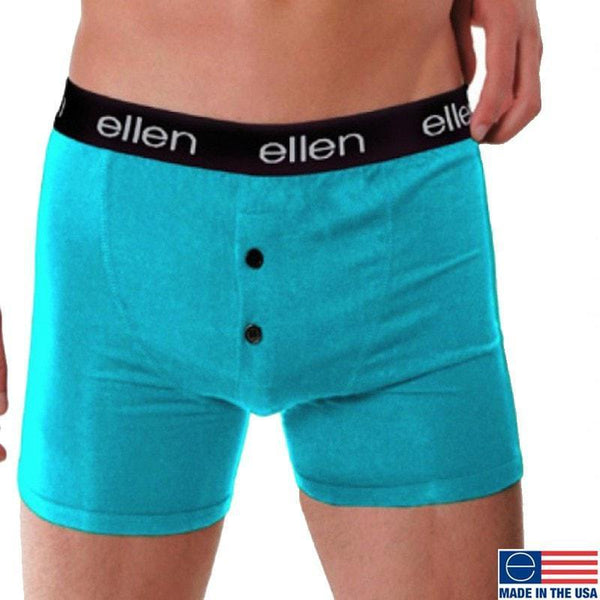 MEN'S BOXERS, TEAL - Ellen Degeneres Show Shop