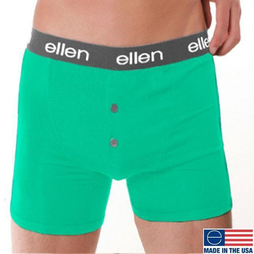 MEN'S BOXERS, MINT/BLACK - Ellen Degeneres Show Shop