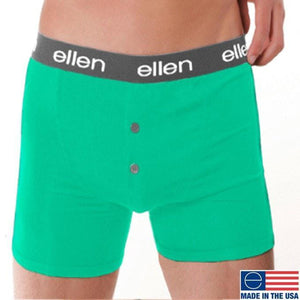 MEN'S BOXERS, MINT/BLACK