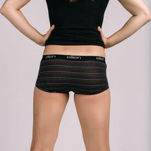Women's Boyshorts Black Stripe