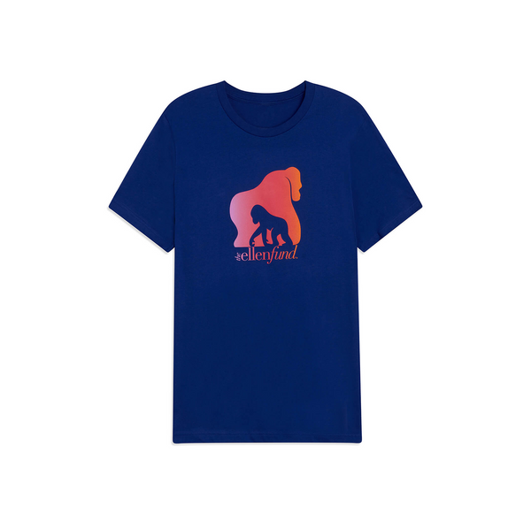 The Ellen Fund Watercolor Gorilla Tee - Navy