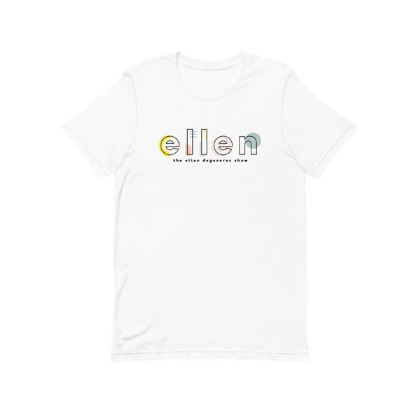 Ellen Show Abstract Logo Tee - White