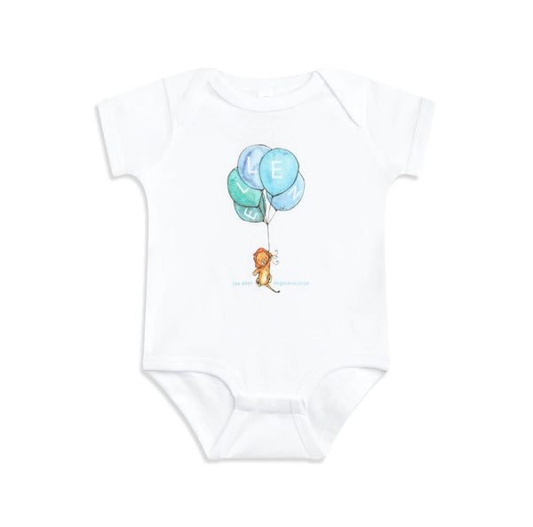 The Ellen DeGeneres Show Tiger Balloon Baby Onesie - white - front