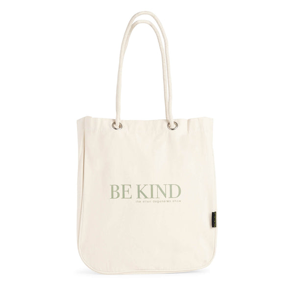 Be Kind Canvas Shopper Tote - Beige