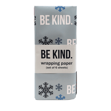 The ellen DeGeneres Show Shop - Be Kind Holiday Wrapping Paper - blue - red - green - front