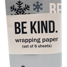 The ellen DeGeneres Show Shop - Be Kind Holiday Wrapping Paper - blue - red - green - detail
