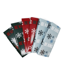 The ellen DeGeneres Show Shop - Be Kind Holiday Wrapping Paper - blue - red - green - spread