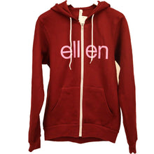 The Ellen DeGeneres Show Shop - Be Kind To One Another Maroon Zip Up - Front