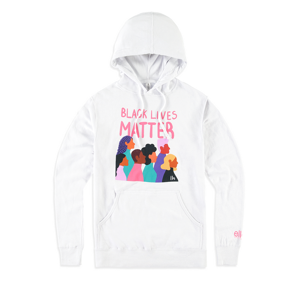Black Lives Matter Pullover Hoodie - White